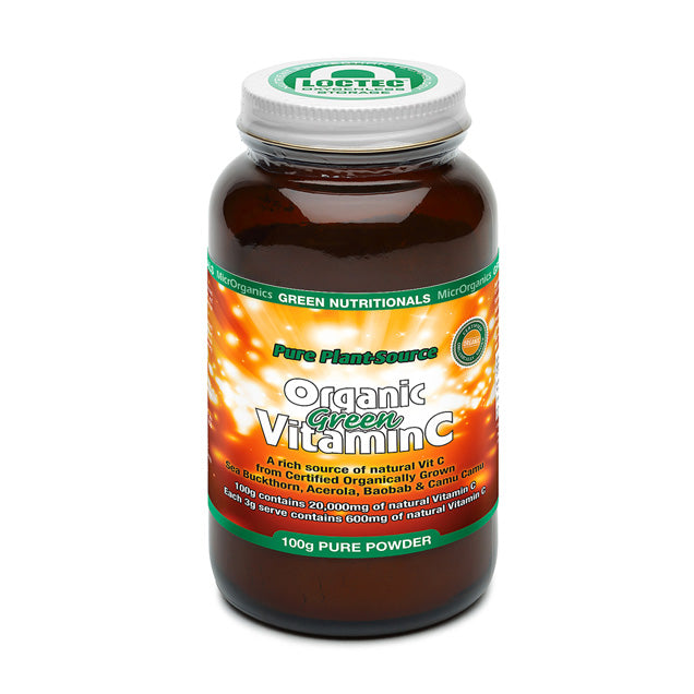 Green Nutritionals Organic Vitamin C Powder - Go Vita Batemans Bay