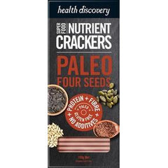 Health Discovery Paleo Four Seed Cracker - Go Vita Batemans Bay