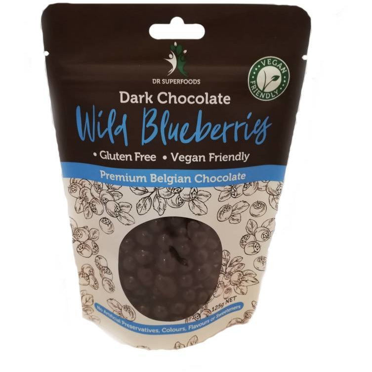 Dr Superfoods Dark Chocolate Wild Blueberries - Go Vita Batemans Bay