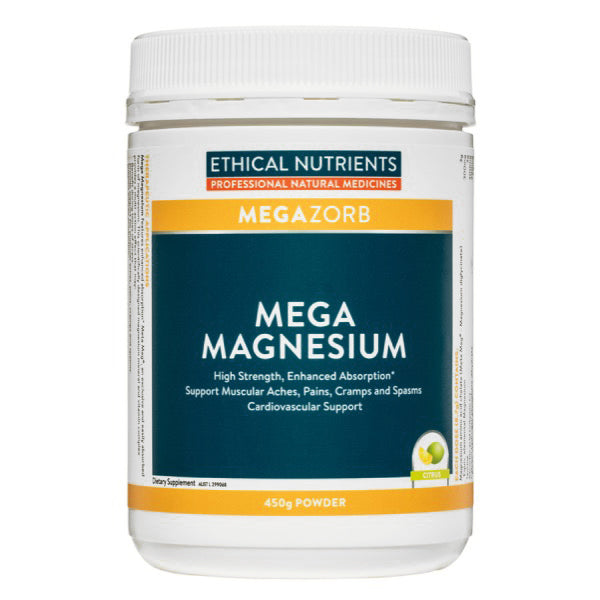 Ethical Nutrients Mega Magnesium Powder Citrus - Go Vita Batemans Bay