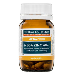 Ethical Nutrients Mega Zinc 40mg - Go Vita Batemans Bay