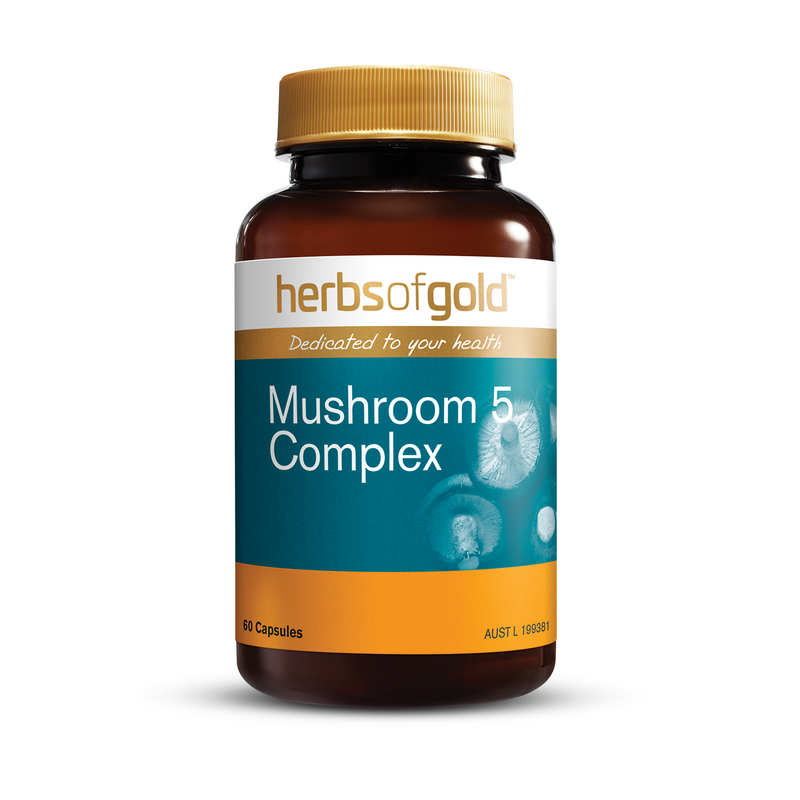 Herbs of Gold Mushroom 5 Complex - Go Vita Batemans Bay