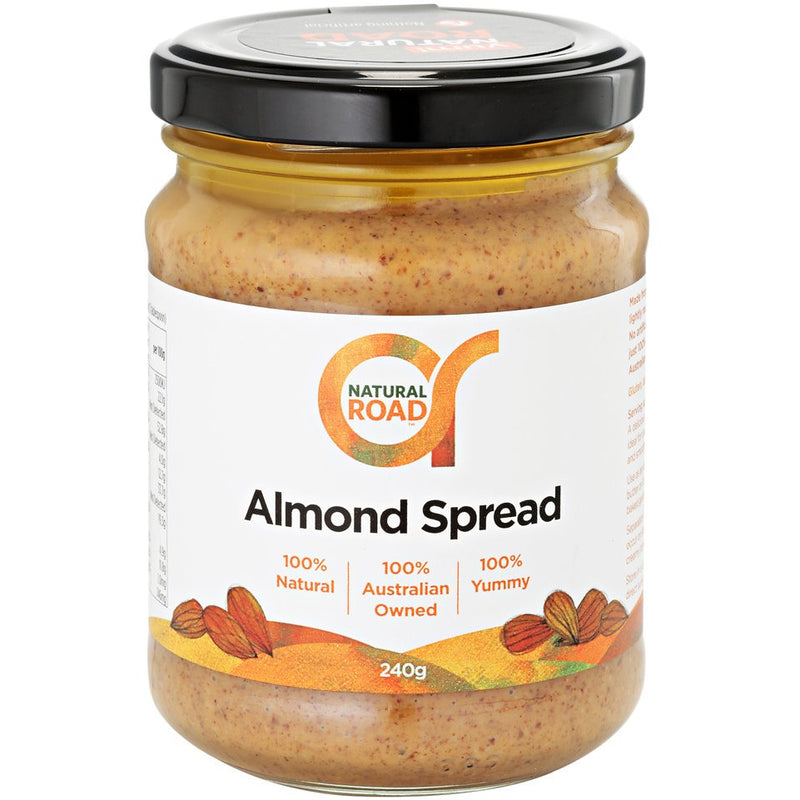 Natural Road Almond Spread - Go Vita Batemans Bay