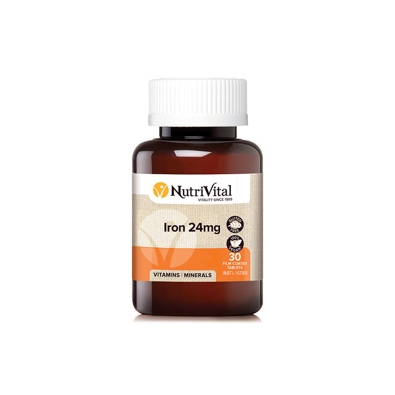 NutriVital Iron 24mg - Go Vita Batemans Bay
