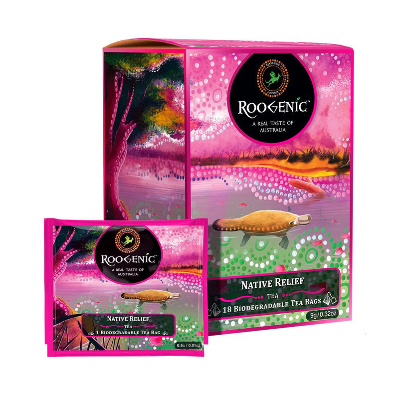 Roogenic Native Relief Tea Bags - Go Vita Batemans Bay