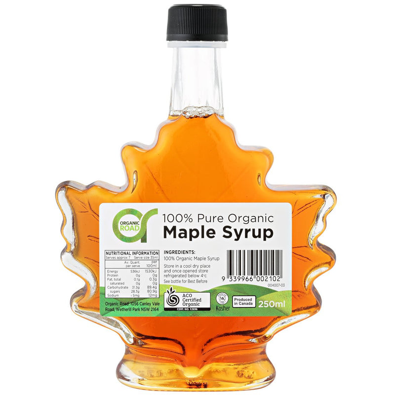 Organic Road Maple Syrup Maple Leaf - Go Vita Batemans Bay