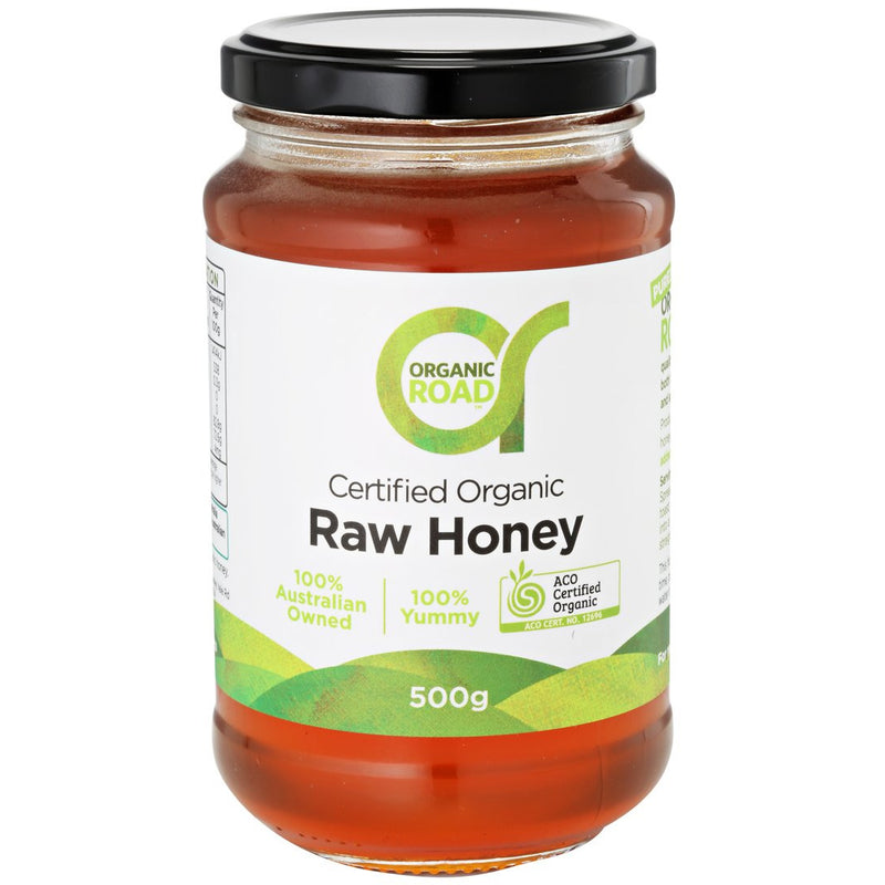 Organic Road Raw Australian Honey - Go Vita Batemans Bay