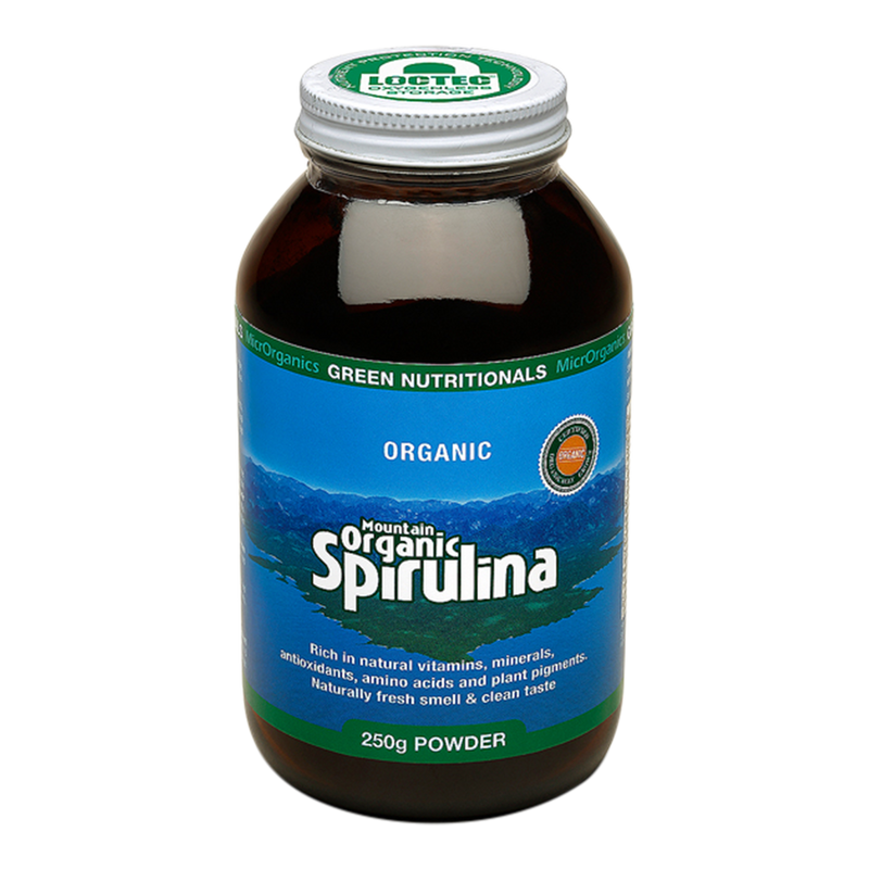 Green Nutritionals Mountain Organic Spirulina Powder - Go Vita Batemans Bay