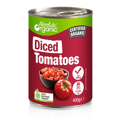 Absolute Organic Diced Tomatoes - Go Vita Batemans Bay