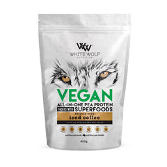 White Wolf Nutrition Vegan Superfood Protein Iced Coffee - Go Vita Batemans Bay