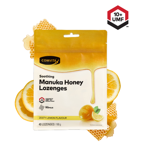 Comvita UMF 10+ Manuka Honey Candy With Propolis (Lemon & Honey) - Go Vita Batemans Bay