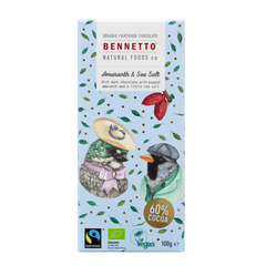 Bennetto Amaranth & Sea Salt Dark Chocolate - Go Vita Batemans Bay