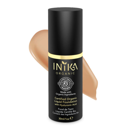 INIKA Organic Liquid Foundation with Hyaluronic Acid - Go Vita Batemans Bay