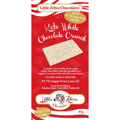 Little Zebra Sugar Free Keto White Chocolate Crunch - Go Vita Batemans Bay