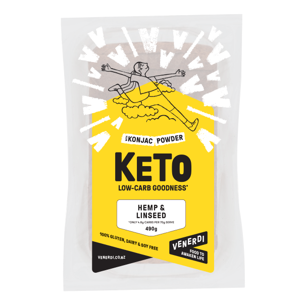 Venerdi Keto Hemp Linseed Bread - Go Vita Batemans Bay