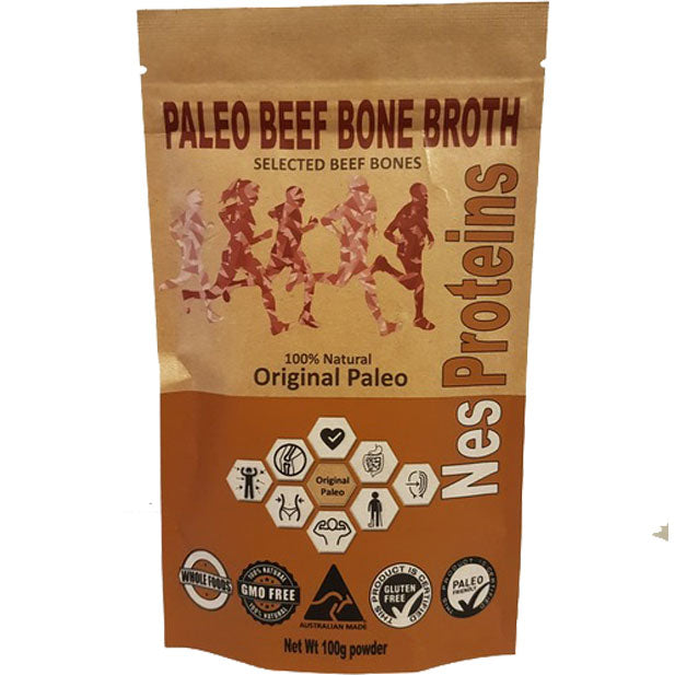 Nes Proteins Paleo Beef Bone Broth Powder - Go Vita Batemans Bay