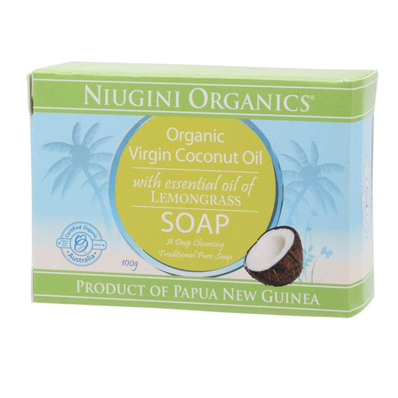 Niugini Organics Lemongrass Coconut Soap - Go Vita Batemans Bay