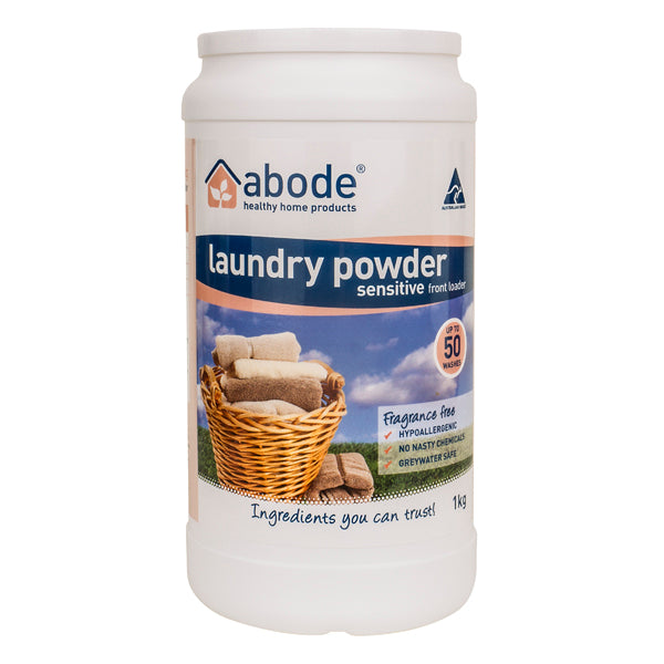 Abode Laundry Powder Zero (Front & Top Loader) - Go Vita Batemans Bay