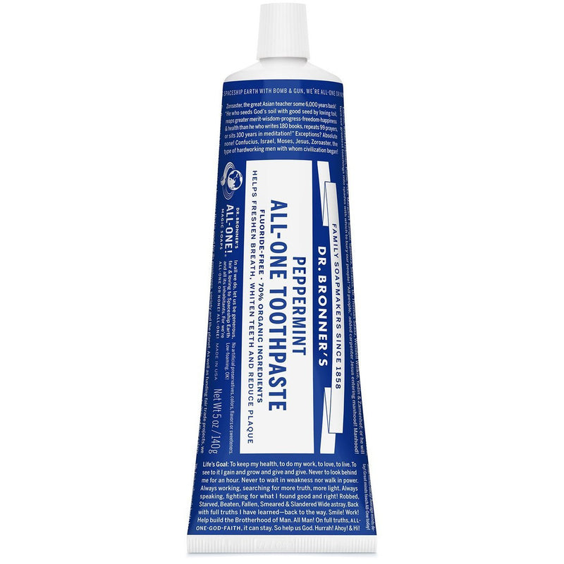 Dr Bronners All-One Toothpaste - Peppermint - Go Vita Batemans Bay