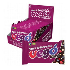 Vego Nuts & Berries Dark Chocolate - Go Vita Batemans Bay