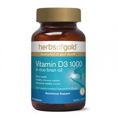 Herbs of Gold Vitamin D3 1000 in Rice Bran Oil