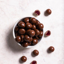 Load image into Gallery viewer, Milk Chocolate Coated Raspberries | Chocolati Confectionary