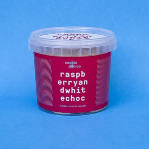 Raspberry and White Chocolate Cookie Dough 250g | Cookie Doh Co.
