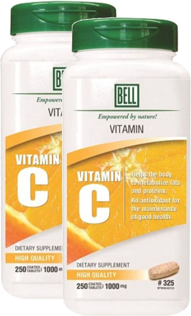 BELL Vitamin C 1000MG (250 Tablets) 2-Pack