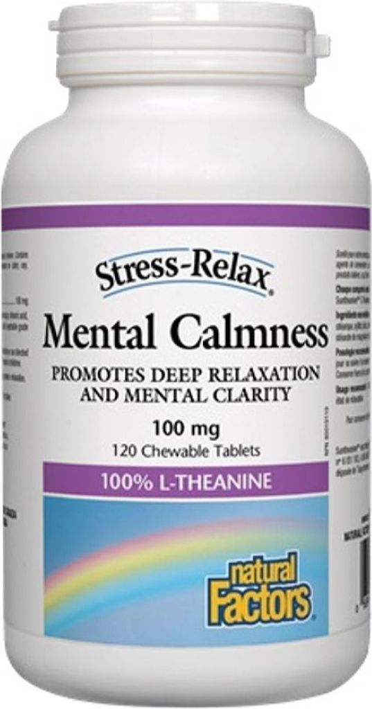 NATURAL FACTORS Mental Calmness (100 mg - 120 chews)