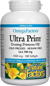 NATURAL FACTORS Ultra Primrose Oil (1000 mg - 180 caps)