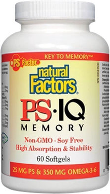 NATURAL FACTORS PS IQ Memory ( 60 sgels)