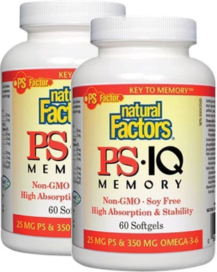 NATURAL FACTORS PS IQ Memory ( 60 sgels) 2-Pack