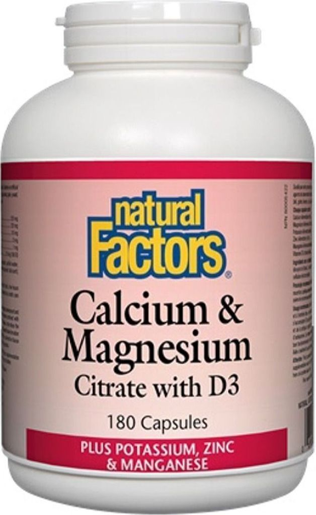 NATURAL FACTORS Calcium Magnesium Citrate (180 caps)
