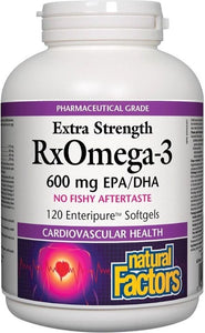 NATURAL FACTORS RxOmega-3 (600 mg - 120 sgels)