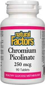 NATURAL FACTORS Chromium Picolinate (250 mcg - 90 tabs)