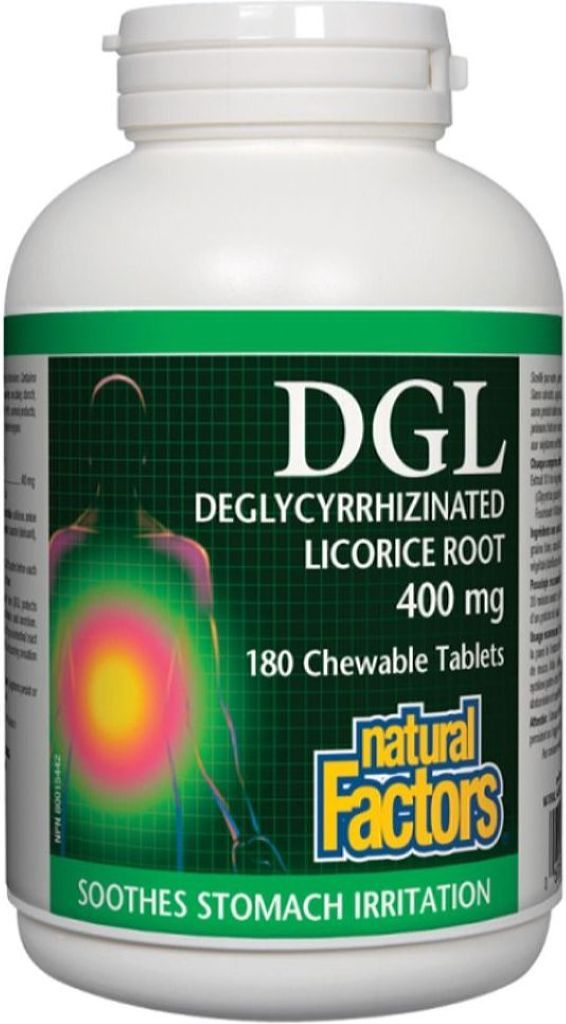 NATURAL FACTORS DGL Licorice Root ( 400 mg - 180 Chews )