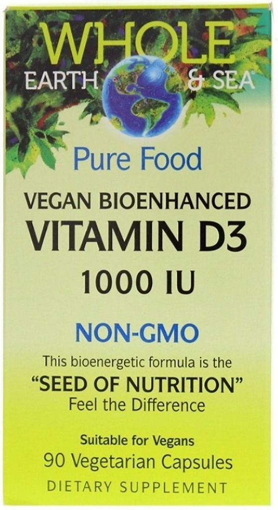 WHOLE EARTH & SEA Vegan Bioenhanced Vitamin D3 (1000 IU - 90 veg caps)
