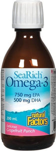 SEARICH Omega 3  750 EPA / 500 DHA (Grapefruit - 200 ml)