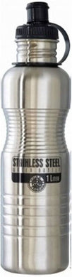 NEW WAVE - SS Water Bottle - Brushed Steel (1 Liter)
