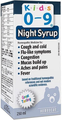 HOMEOCAN Kids 0-9 Cough / Cold Nighttime (250 ml)