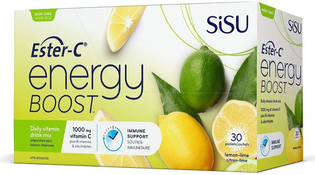 SISU Ester-C® Energy Boost (Lemon - 30 Pckt)