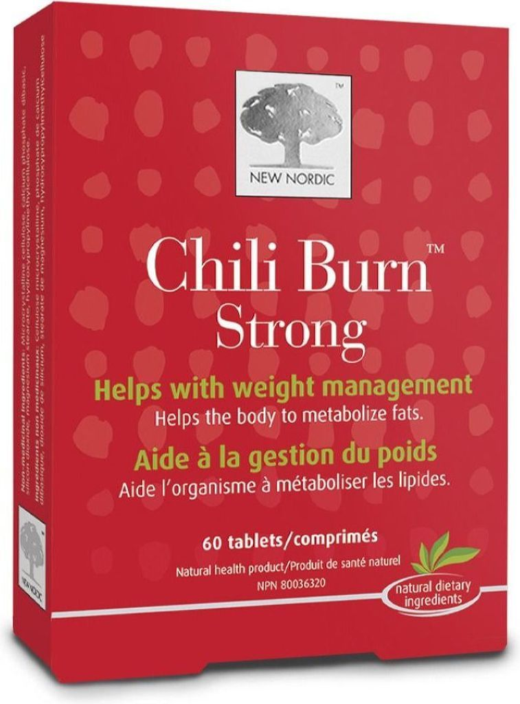 NEW NORDIC Chili Burn Strong (Fat Burner) (60 tabs)
