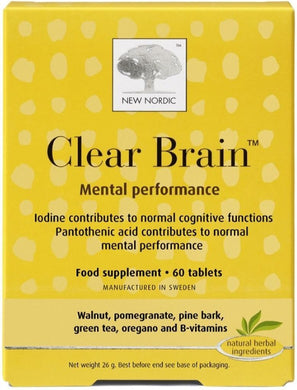 NEW NORDIC Clear Brain (60 tabs)