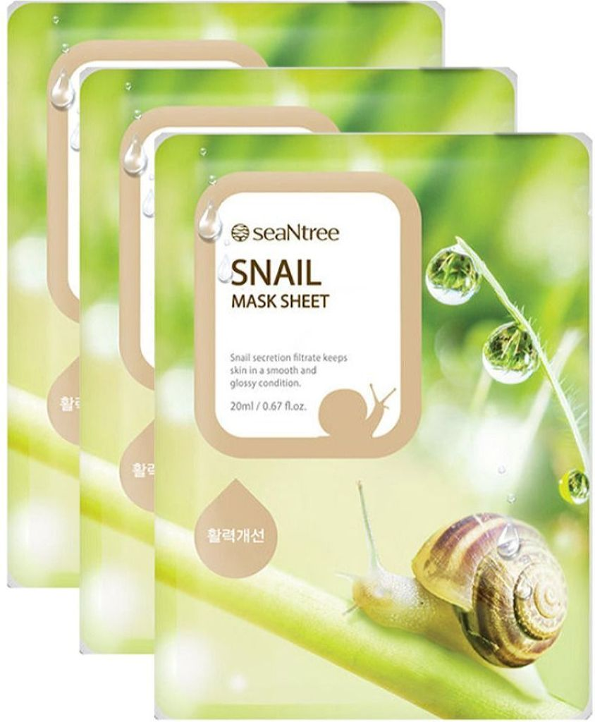 SeaNtree Mask - Snail Mask (3-Pack)