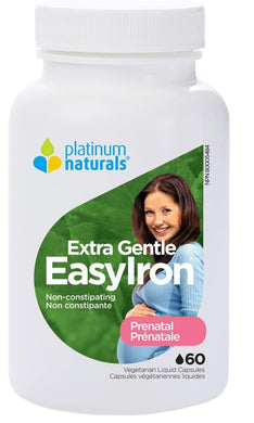 PLATINUM Prenatal Easy Iron ( 60 Softgels )