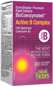 NATURAL FACTORS BioCoenzymated™ Active B Complex (60 V-Caps)