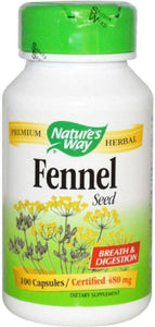 NATURES WAY Fennel Seed (480mg - 100 caps)