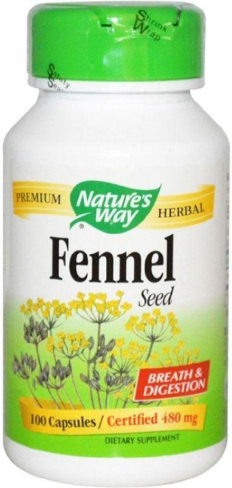 NATURE'S WAY Fennel Seed (480mg - 100 caps)