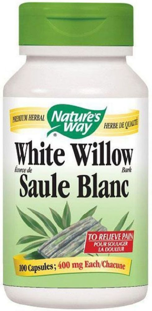 NATURE'S WAY White Willow Bark ( 100 veg caps )