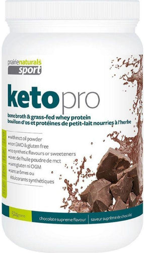 PRAIRIE NATURALS KetoPro Bone Broth Protein (Chocolate - 524 Gr)